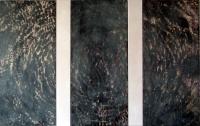 Mixta sobre madera / 85(x3)x180cm